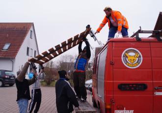 Daimler 508 – Dachträger nicht soooo leicht…