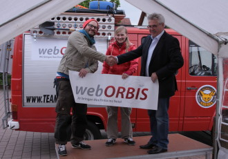 webORBIS sponsored das Team Travelflow