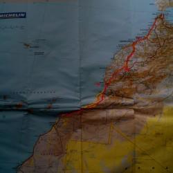 Karte Tanger-Dakhla