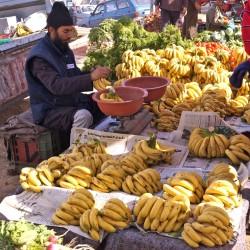 Markttag Bananenstand